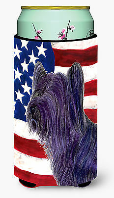 USA American Flag with Skye Terrier  Tall Boy Beverage Insulator Beverage Insula