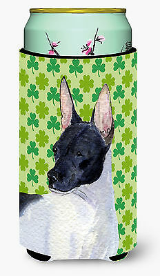 Rat Terrier St. Patrick's Day Shamrock Portrait  Tall Boy Beverage Insulator Bev