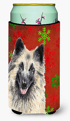 Belgian Tervuren  Snowflakes Holiday Christmas  Tall Boy Beverage Insulator Beve
