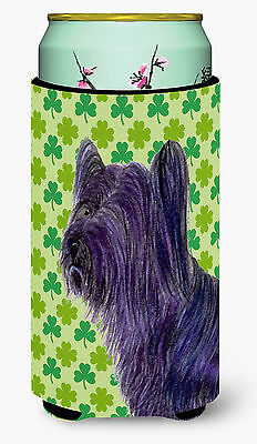 Skye Terrier St. Patrick's Day Shamrock Portrait  Tall Boy Beverage Insulator Be