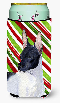 Rat Terrier Candy Cane Holiday Christmas  Tall Boy Beverage Insulator Beverage I