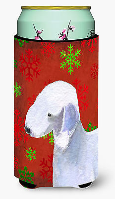 Bedlington Terrier  Snowflakes Holiday Christmas  Tall Boy Beverage Insulator Be