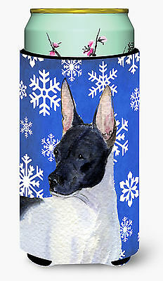 Rat Terrier Winter Snowflakes Holiday  Tall Boy Beverage Insulator Beverage Insu