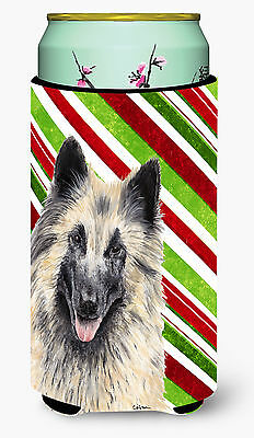 Belgian Tervuren Candy Cane Holiday Christmas  Tall Boy Beverage Insulator Bever