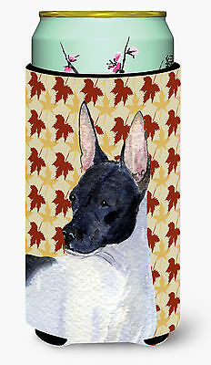 Rat Terrier Fall Leaves Portrait  Tall Boy Beverage Insulator Beverage Insulator