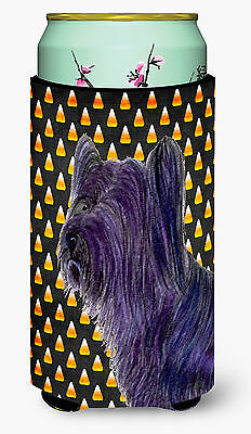 Skye Terrier Candy Corn Halloween Portrait  Tall Boy Beverage Insulator Beverage