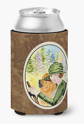 Lady driving with her Chow Chow Can or Bottle Beverage Insulator Hugger