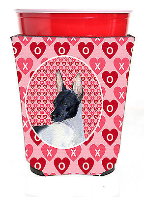 Carolines Treasures  SS4480RSC Rat Terrier  Red Solo Cup Beverage Insulator Hugg