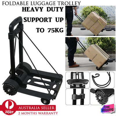 New Folding Foldable Luggage Hand Trolley Truck Cart Lightweight Travel Shopping