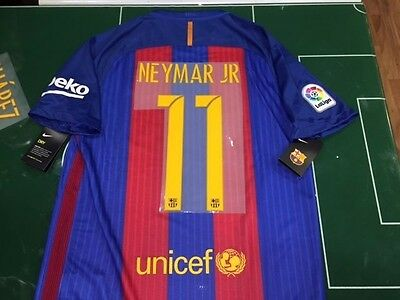 Maglia Calcio Shirt Football Barcelona 2016/2017 Nike Home Full Sponsor Neymar