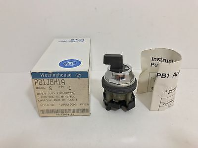 New! Westinghouse 3 Position Selector Switch Pb1Jbh1A 1290C10G05