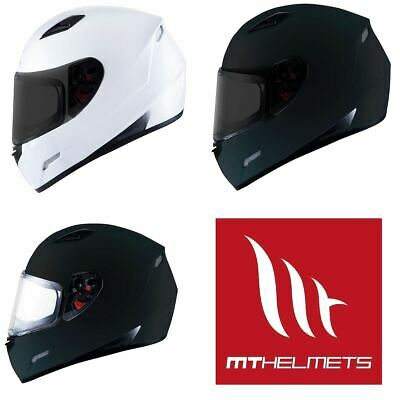 MT Mugello Black White Full Face Lightweight Motorcycle Scooter Crash Helmet