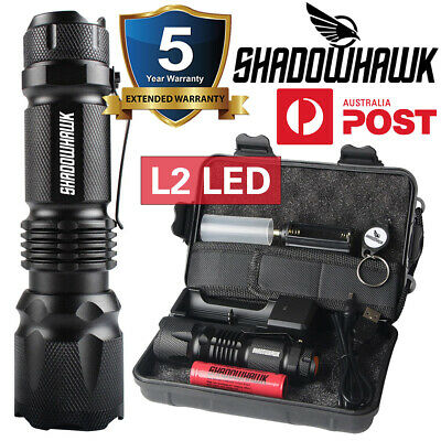 2019 20000lm USB Rechargeable Flashlight LED Tactical COB Work light Torch Camp