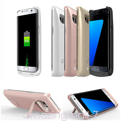 External 8000mAh Backup Battery Charger Power Bank Cover For Samsung S6 S7 noteg