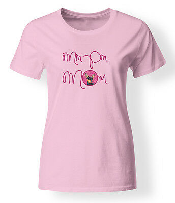 Carolines Treasures  LH9380PK-978-S Pink Min Pin Mom T-shirt Ladies Small