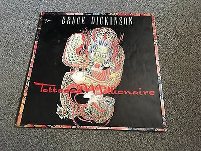 "Bruce Dickinson - Tattooed Millionaire - 1990 12"" Single In Poster Sleeve Vg"