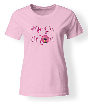 Carolines Treasures  LH9380PK-978-M Pink Min Pin Mom T-shirt Ladies Medium