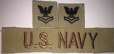 Us Navy Dcu E5 Petty Officer 2Nd Class Rank And Us Navy Branch Tape Used (A146)