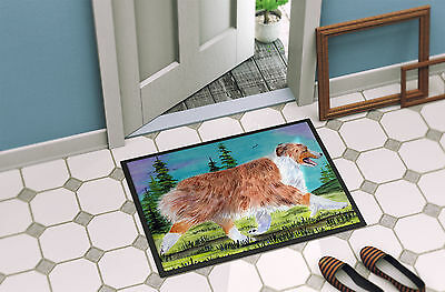 Carolines Treasures  SS8423MAT Australian Shepherd Indoor Outdoor Mat 18x27 Door