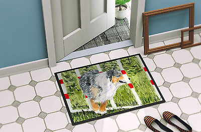 Carolines Treasures  SS8885MAT Australian Shepherd Indoor Outdoor Mat 18x27 Door