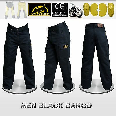 Men Motorbike Cargo Trousers Pants Reinforced with DuPont™ Kevlar® fiber