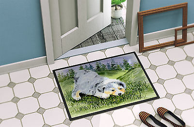 Carolines Treasures  SS8015MAT Australian Shepherd Indoor Outdoor Mat 18x27 Door