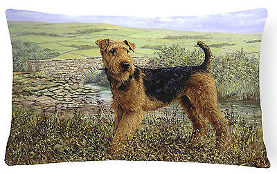 Airedale Terrier The Kings Country Fabric Decorative Pillow