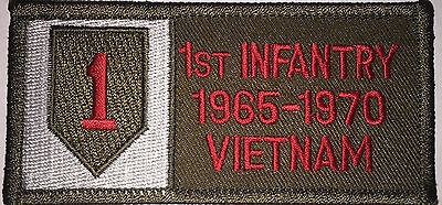 Us Army 1St Infantry 1965-1970 Vietnam Repro Patch New (A150)