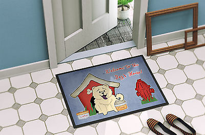 Dog House Collection Chow Chow White Indoor or Outdoor Mat 18x27