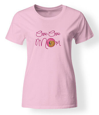 Carolines Treasures  SS4778PK-978-XL Pink Chow Chow Mom T-shirt Ladies Extra Lar
