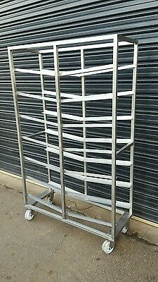 Commercial Stainless Freestanding 12 Bay Caterers Bakers Rack