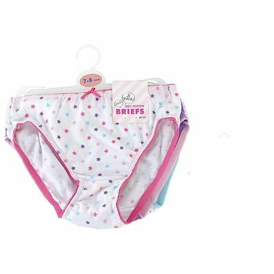 100% Cotton Girls Pants Briefs Knickers for 7-8Years-Pink