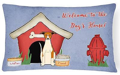 Dog House Collection Whippet Canvas Fabric Decorative Pillow