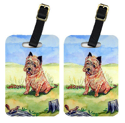 Carolines Treasures  7017BT Pair of 2 Cairn Terrier and the chipmunk Luggage Tag