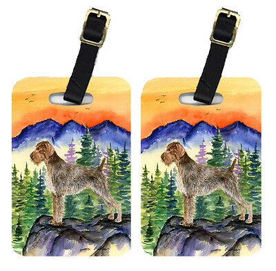 Carolines Treasures  SS8226BT Pair of 2 German Wirehaired Pointer Luggage Tags