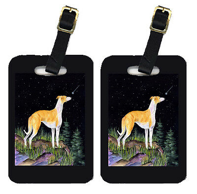 Carolines Treasures  SS8492BT Starry Night Whippet Luggage Tags Pair of 2