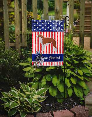 USA Patriotic Borzoi Russian Greyhound Flag Garden Size