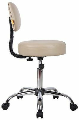 Medical Exam Stool Doctor Dentist Backrest Chair Rolling Office Seat Furniture
