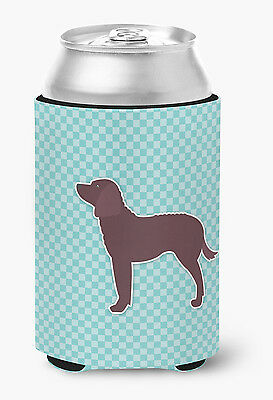 American Water Spaniel  Checkerboard Blue Can or Bottle Hugger
