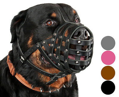 Leather Dog Muzzle Mastino Bullmastiff Rottweiler Muzzles Secure Basket
