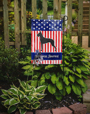 Carolines Treasures  BB3375GF USA Patriotic Great Dane Flag Garden Size