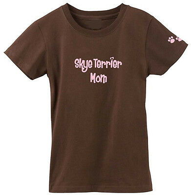 Carolines Treasures  978M-4069-CHPK-S Skye Terrier Mom Tshirt Ladies Cut Short S