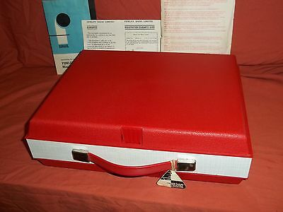 Fidelity HF42 vintage Portable Record Player Model HF42. Boxed