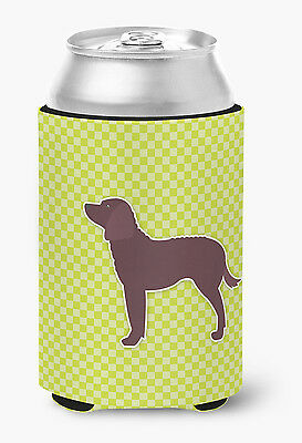 American Water Spaniel Checkerboard Green Can or Bottle Hugger
