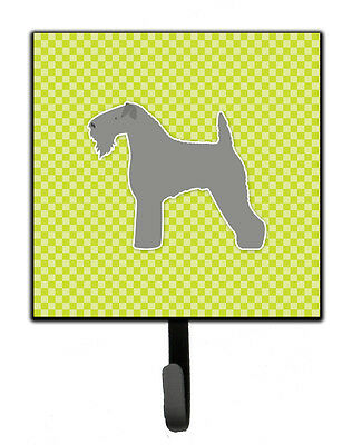 Kerry Blue Terrier Checkerboard Green Leash or Key Holder
