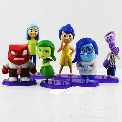 Inside out Characters Figures 6pc, BRAND NEW, 6CM TALL, FREE EXPRESS DELIVERY UK
