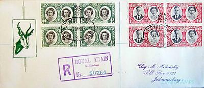 Rhodesia / Zimbabwe 1947 Royal Tour Registered Cover Uncommon **see Scans**