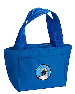 Carolines Treasures  SS4756-BU-8808 Blue Rat Terrier  Lunch Bag or Doggie Bag SS
