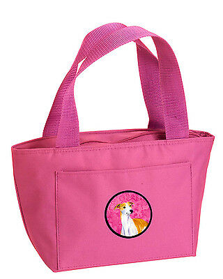 Carolines Treasures  LH9373PK-8808 Pink Whippet  Lunch Bag or Doggie Bag LH9373P