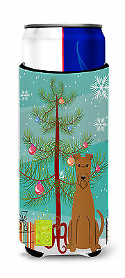 Merry Christmas Tree Irish Terrier Michelob Ultra Hugger for slim cans